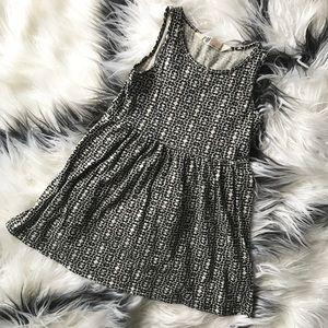 H&M Toddler Girl Black / White Pattern Tank Dress